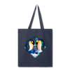 Penguin Tote Bag - navy