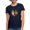 Wolf face Women's T-Shirt - navy