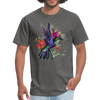 Flying Hummingbird Men's T-Shirt - charcoal