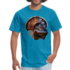 Turkey t-shirt - Animal Face T-Shirt - turquoise