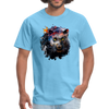 Black panther t-shirt - Animal Face T-Shirt - aquatic blue