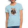 Cat with eyes Women's T-Shirt - powder blue