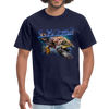 Sea Turtle T-Shirt - Animal Face T-Shirt - navy