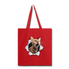 Cat with eyes Tote Bag - red