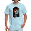 Gorilla t-shirt - Animal Face T-Shirt - powder blue
