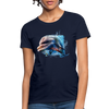 Dolphin Women's T-Shirt - navy