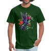 Flying Hummingbird Men's T-Shirt - forest green