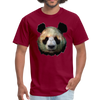 Panda t-shirt - Animal Face T-Shirt - burgundy