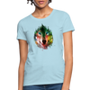 Wolf face Women's T-Shirt - powder blue