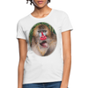 Mandrill Monkey Women's T-Shirt - white