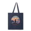 Deer with hazy sun Tote Bag - navy