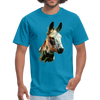 Donkey t-shirt - Animal Face T-Shirt - turquoise