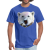Polar bear t-shirt - Animal Face T-Shirt - royal blue
