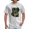 Deer with foliage Men's T-Shirt - heather gray