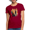 Praying Cat Women's T-Shirt - dark red