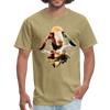 Goat t-shirt - Animal Face T-Shirt - khaki