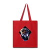 Wolf Tote Bag - red