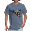 Sea Turtle T-Shirt - Animal Face T-Shirt - denim