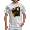 Sloth t-shirt - Animal Face T-Shirt - heather gray