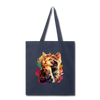 Praying Cat Tote Bag - navy