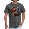 Turkey t-shirt - Animal Face T-Shirt - heather black