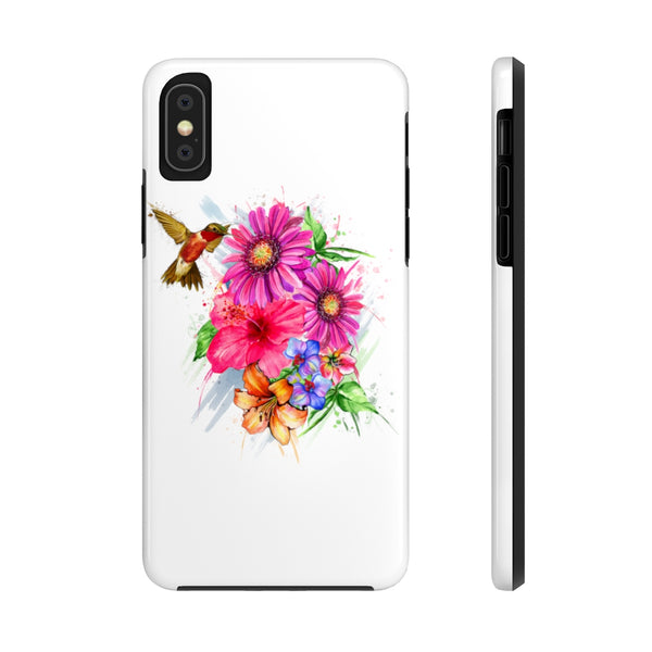 Hummingbirds and flowers Case Mate Tough Phone Cases
