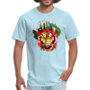 Watercolor tiger t-shirt - powder blue