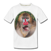 Mandrill Monkey Kid's Premium Organic T-Shirt - white