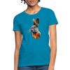 Rabbit Women's T-Shirt - turquoise