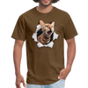 Cat with eyes Men's T-Shirt - brown