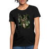 Deer with foliage Women's T-Shirt - black