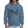 Sea turtle hoodie - Animal Face Hoodie - denim blue