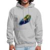 Megalodon Shark Hoodie - Animal Face Hoodie - heather gray