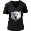 Polar Bear Women T-Shirt - Animal Face T-Shirt