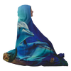 Dolphins Hooded Blanket