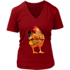 Chicken Women's T-Shirt - Animal Face T-Shirt