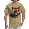 Tiger t-shirt - Animal Face T-Shirt - khaki