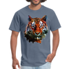 Tiger t-shirt - Animal Face T-Shirt - denim
