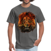 Lion t-shirt - Animal Face T-Shirt - charcoal