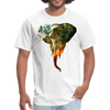 Elephant t-shirt - Animal Face T-Shirt - white