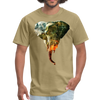Elephant t-shirt - Animal Face T-Shirt - khaki