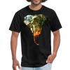 Elephant t-shirt - Animal Face T-Shirt - black