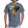 Elephant t-shirt - Animal Face T-Shirt - denim