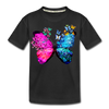 Butterflies Kid's Premium Organic T-Shirt - black