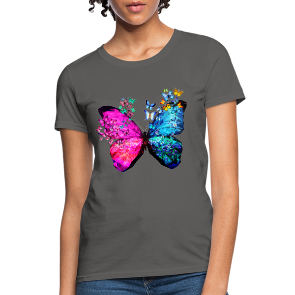 Butterflies Women's T-Shirt - charcoal