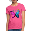 Butterflies Women's T-Shirt - heather pink