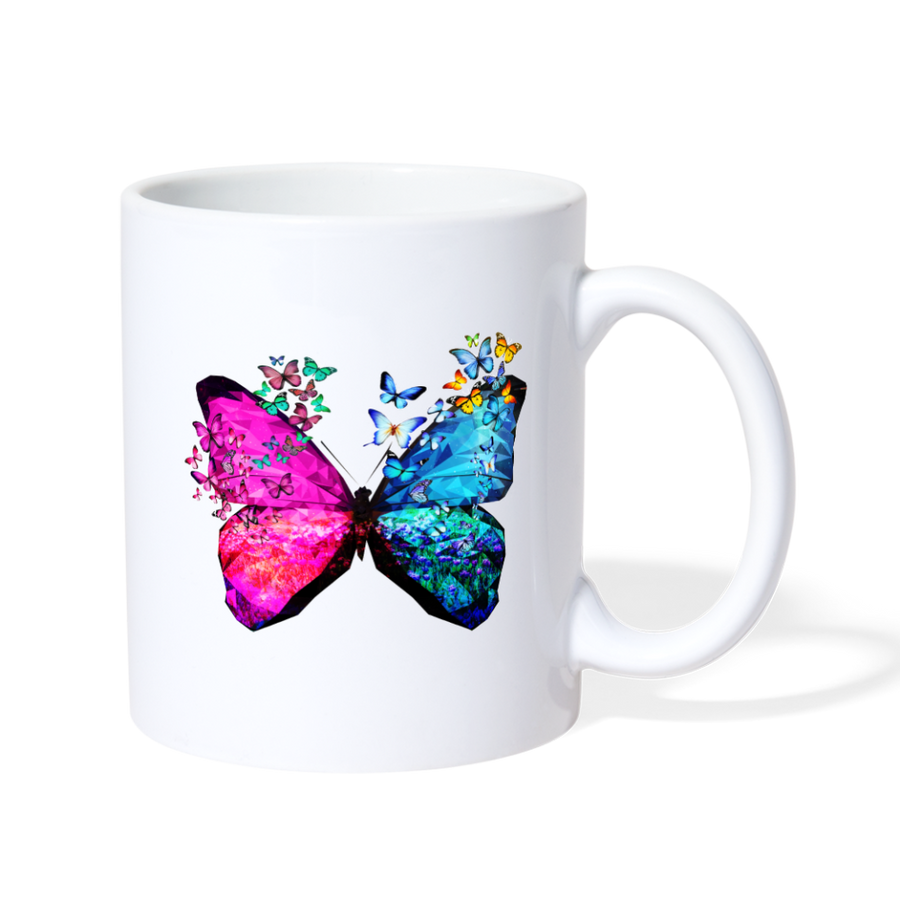Butterflies Coffee/Tea Mug - white