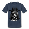 Bear Fighting Kid's Premium Organic T-Shirt - navy