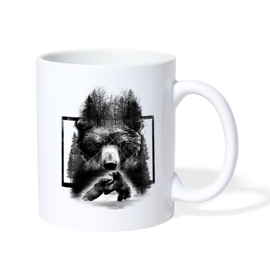 Bear Fighting Coffee/Tea Mug - white