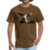Forest Moose Men's T-Shirt - brown